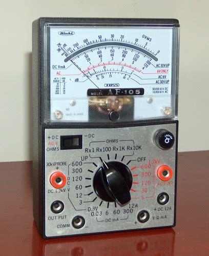 Multimeter Hioki multimeter hioki model af 105 171 www museu tecnologia br