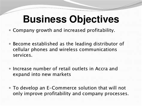 business objective statement exles business plan objectives exles writersgroup749 web