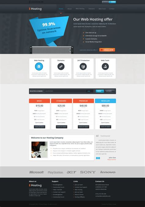 web hosting template web hosting template by icewavegfx on deviantart