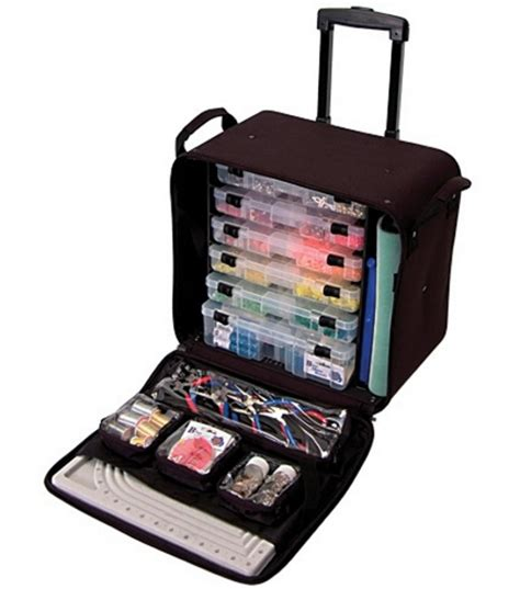 bead organizers crop in style rolling bead tote black arts