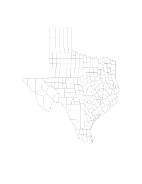 blank texas map blank texas county map free