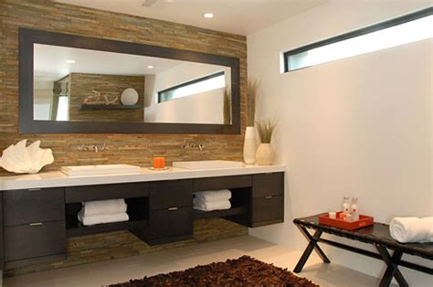 floating washstand contemporary bathroom