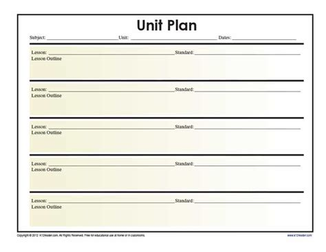 templates for unit plans 39 best unit plan templates word pdf template lab