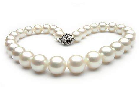Pearl Necklace White South Sea Pearl Necklace 13 15mm Aa Pearl