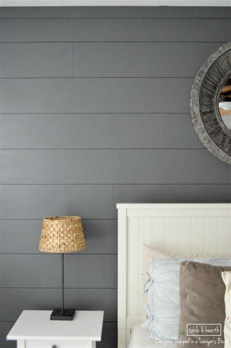easy diy shiplap wall fireplaces tables  gray color