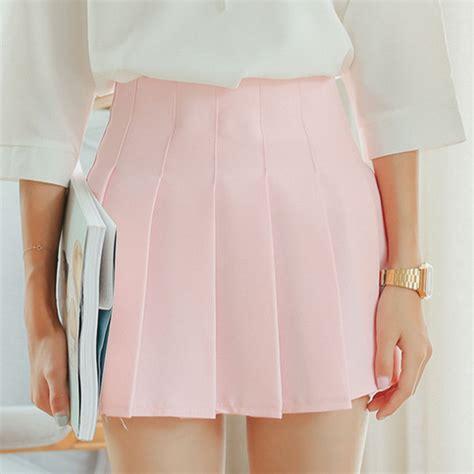 Mini Dress Dress Korea White Sweet Roses L Import Original sweet colors student pleated skirt 183 asian