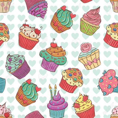 hd cupcake pattern seamless pattern made of hand drawn cupcakes royalty free