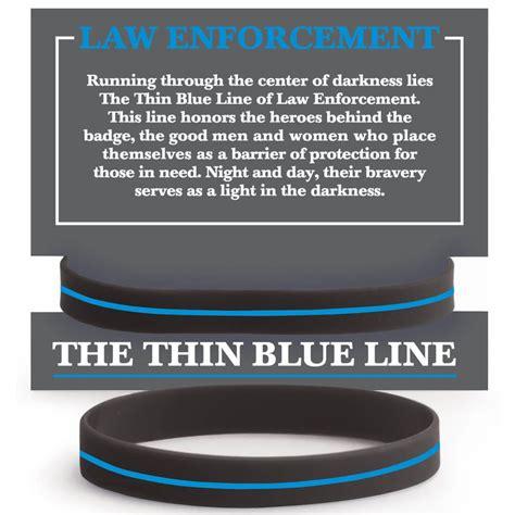 law enforcement  thin blue  silicone bracelet   card positive promotions