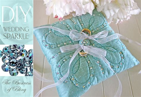 Diy Cing Pillow by Diy Wedding Sparkle With Artistic Crystals Ring Bearer S