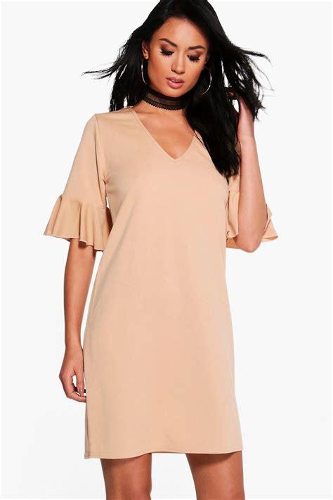 Hana Dress Xl boohoo womens hana bell sleeve shift dress ebay