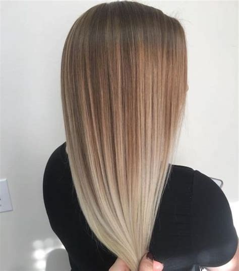 ombre balayage color melt blonde highlights long bob 29 best balayage hairstyles for straight hair for 2017