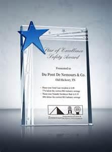 Appreciation Letter Award Winner safety star award plaque amp sample wording ideas award