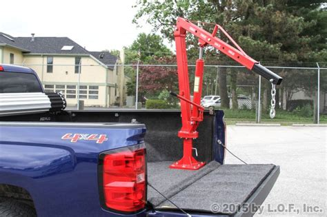 truck bed hoist pickup truck bed jib crane swivel mount 1 000 lb lift