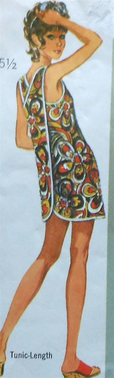 Sewing Pattern Cover Up | vintage beach cover up sewing pattern simplicity 9427 size 12