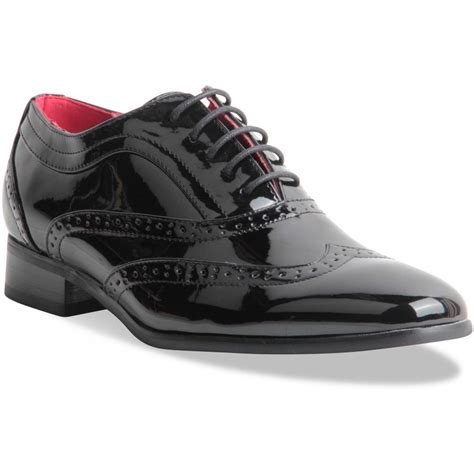 oxford style shoe mens spectator two tone black wingtip brogue
