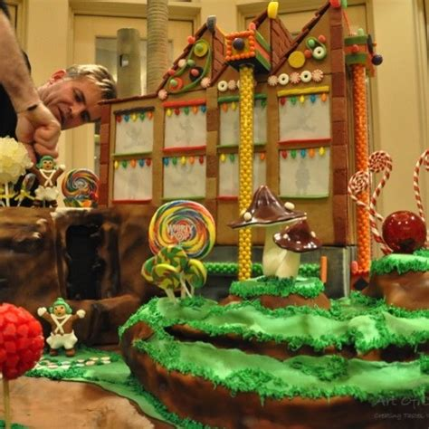 willy wonka  chocolate factory gingerbread house