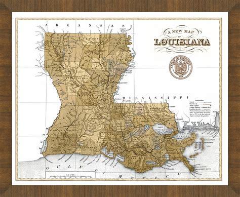 louisiana map framed map of louisiana a great framed map that s ready to hang