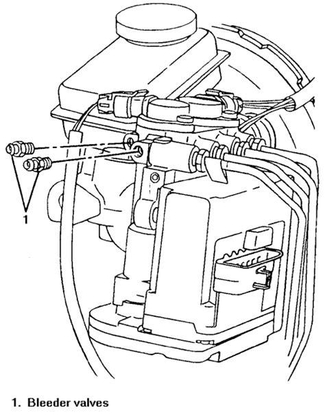 repair anti lock braking 1997 oldsmobile regency user handbook repair guides anti lock brake system bleeding the abs system autozone com