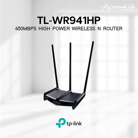 Harga Tp Link Tl Wr941hp tl link tl wr941hp 450mbps high power wireless n router