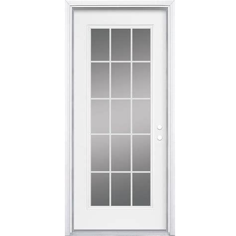 32 Inch Entry Door by Masonite 32 Inch X 4 9 16 Inch 15 Lite Left