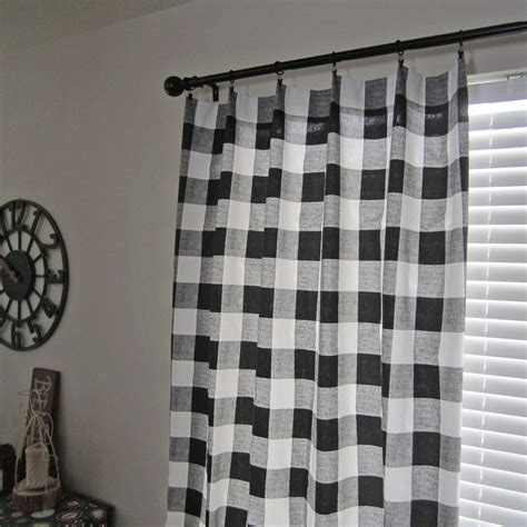 black plaid curtains buffalo plaid curtains buffalo check curtain panels