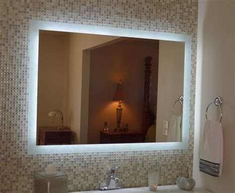 Lighted Bathroom Mirror Lighted Vanity Mirror Make Up Wall Mounted Led Bath Mirror Mam94331 43 Quot X31 Quot Ebay