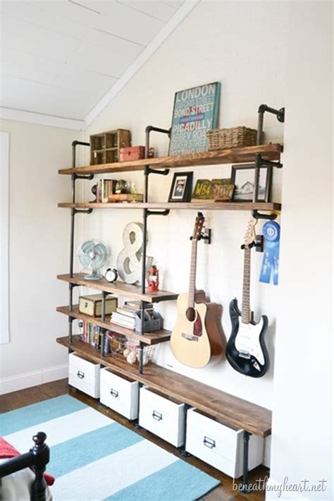 diy shelves for bedroom pneumatic addict 50 diy industrial decor ideas