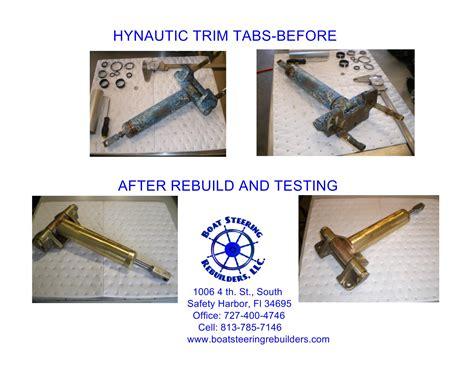 boat trim tab cylinder hynautic trim tab cylinders rebuilt the hull truth