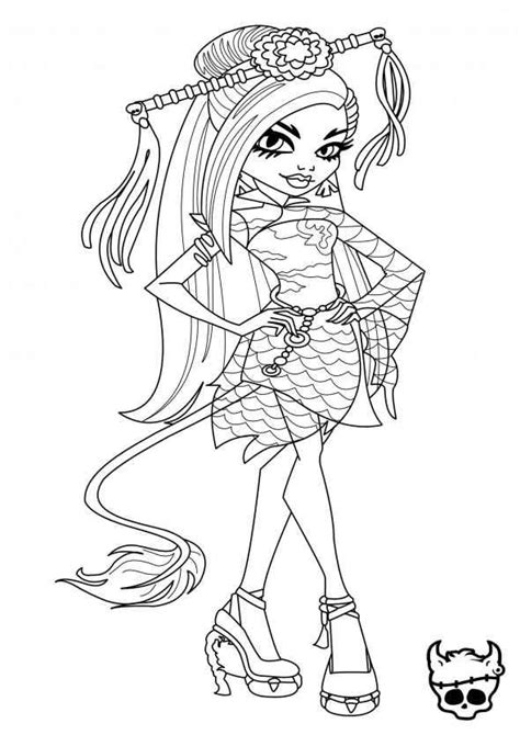 coloring pages monster high dolls jinafire long monster high coloring page coloring pages