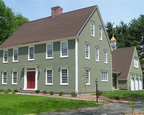 green house color colonial exterior house paint colors