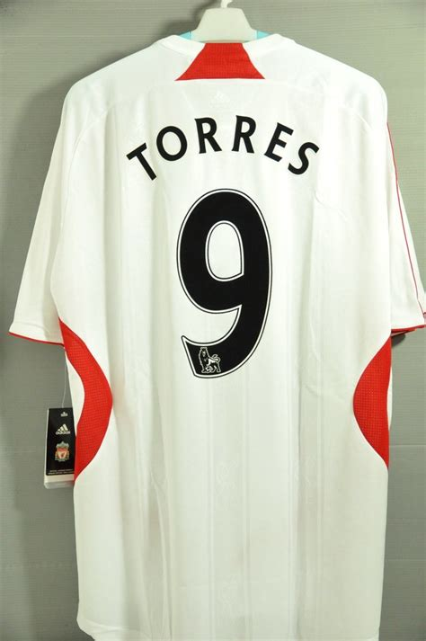 Polo Shirt Football Premier League 9 liverpool torres away replica jersey football soccer shirt 2011 maglia trikot 2008 nwt epl