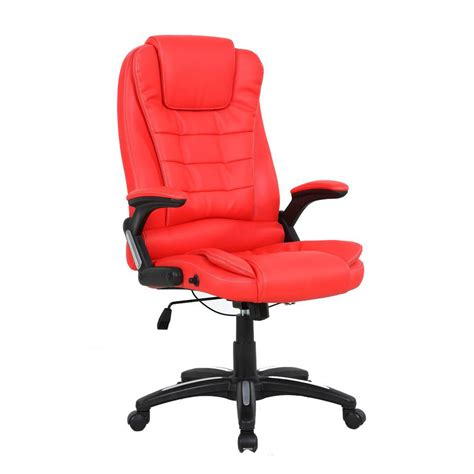 Reclining Office Desk Chair Luxury Reclining Executive Office Desk Chair Faux Leather High Back Swivel Ebay