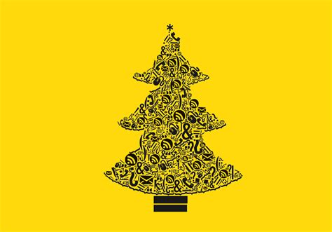 best 28 black and yellow christmas tree decoration