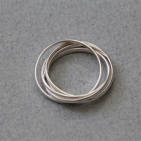 silver interlocking rings by attic notonthehighstreet