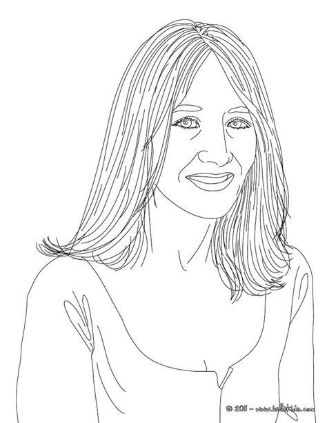Desenhos para colorir de desenho da escritora jk rowling