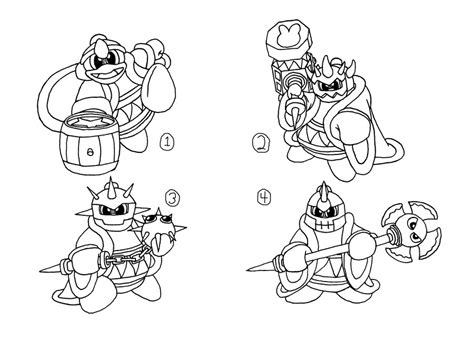 king dedede coloring page concept art kood king dedede s abilities 1 of 2 by