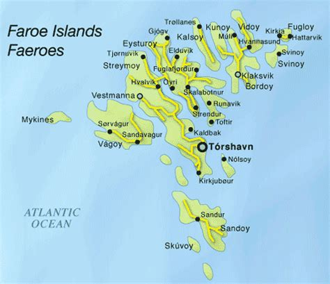 faroe islands map faroe islands map map all maps of the world