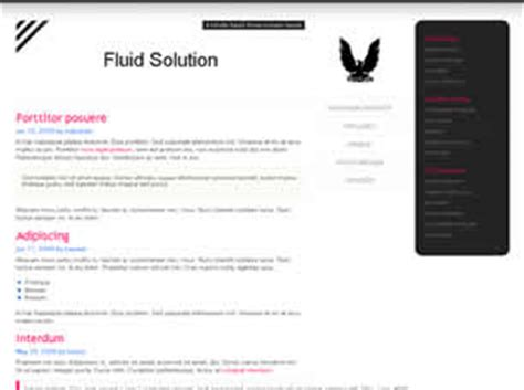 Fluid Solution Free Website Template Free Css Templates Free Css Fluid Website Templates