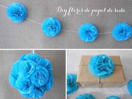 como se hacen las cadenas con papel crepe diy flores de papel de seda paperblog