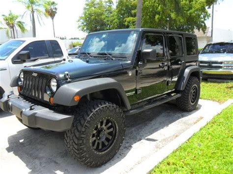 2012 jeep wrangler 4 door buy used 2012 jeep wrangler jk 4 door black forrest green