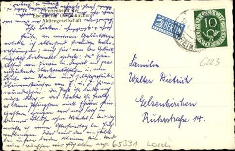 haus rheinberg lorch ansichtskarte postkarte lorch im rheingau taunus kreis