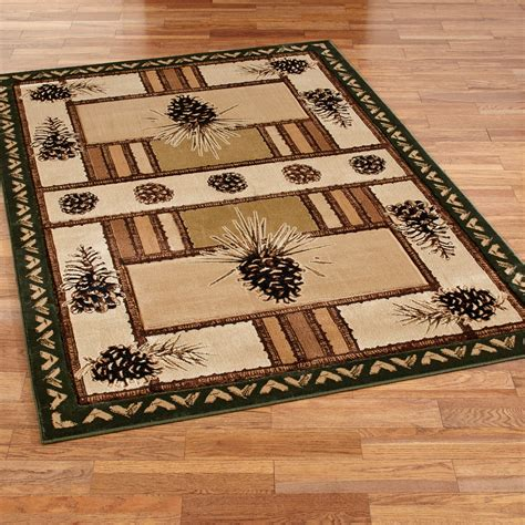 Pine Cone Area Rugs Pine Barrens Rustic Pine Cone Area Rugs