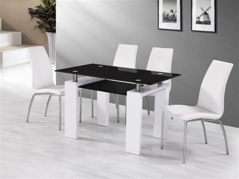 black gloss dining table and chairs white gloss black glass dining table and 6 chairs homegenies