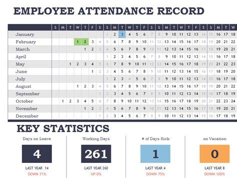 attendance report card template employee attendance tracker calendar sheet template