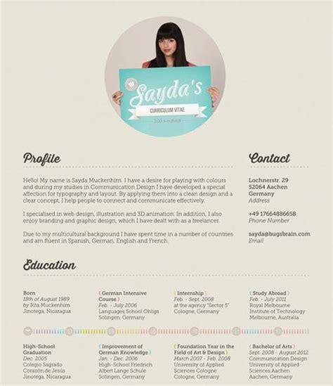Cv Theme Free 2014 by 40 Inspiring Resume Designs 2014
