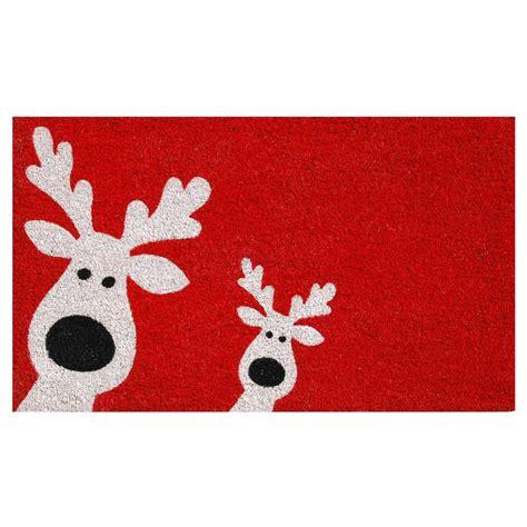 Good Christmas Coir Doormat #4: Red-white-home-more-christmas-rugs-doormats-101801729-64_1000.jpg