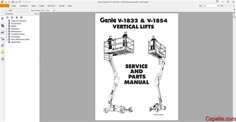 Genie Scissors Lift V 1932 And V 1854 Parts Manuals Auto