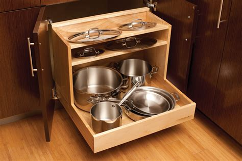 pull out cabinet organizer for pots and pans pots pans storage cookware cabinets dura supreme