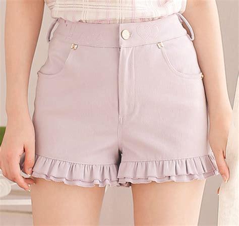 Skort Celana Pendek Korea White Lace 2 7 Y kawaii con shorts