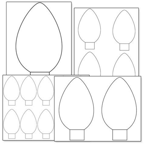 Free Coloring Pages Of Christmas Light Bulb Printable Lights Coloring Pages